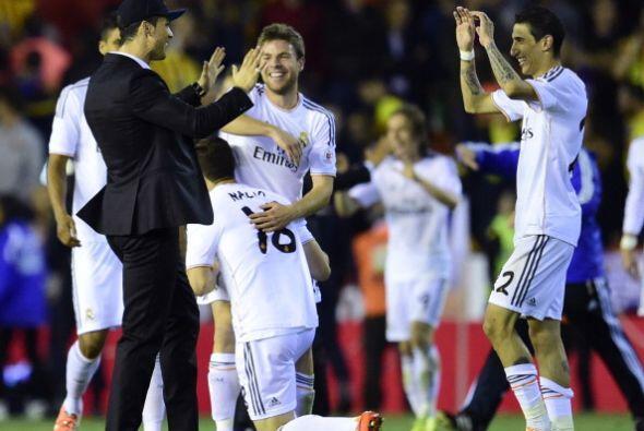 Cristiano Ronaldo no jugó, pero celebró en grande con sus compañeros.