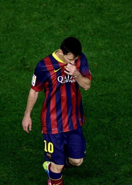 Messi se vio fuera de juego y frustrado.
