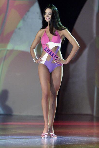 Así lucía Spear durante la pasarela en bikini en el certamen venezolano...