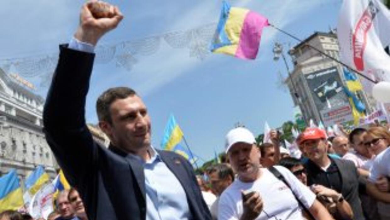 Vitali Klitschko quiere la presidencia de Ucrania.