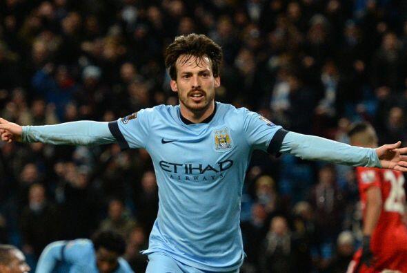 David Silva, jugador del Manchester City, se ubica en el lugar 17 con 17...