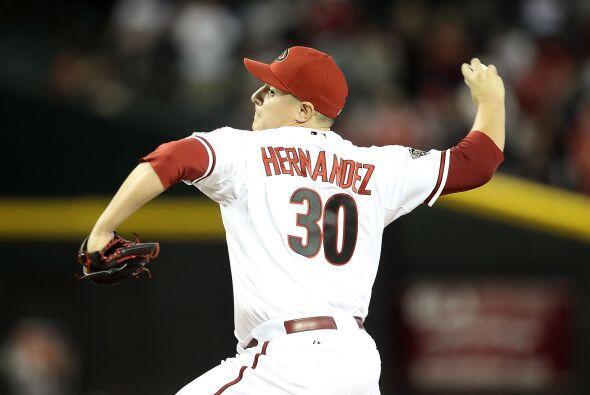 Mención especial: David Hernández, relevista de los Diamondbacks de Ariz...