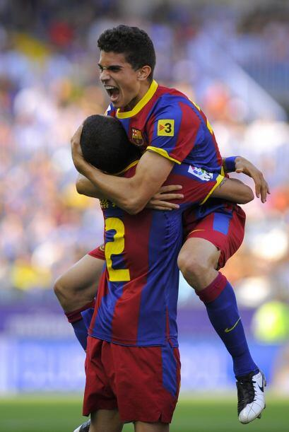 Barcelona dominaba y el Málaga se defendía como podía. Bartra, juvenil d...