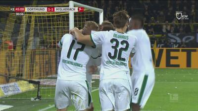 El Gladbach iguala 1-1 al Borussia Dortmund antes del descanso