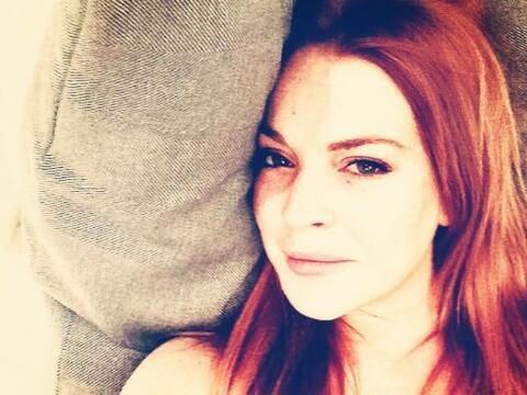 Lindsay Lohan decidió inmortalizar sus pecas del rostro y cabelle...