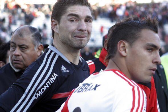 El llanto de Juan Pablo Carrizo lo dice todo, su equipo River Plate desc...