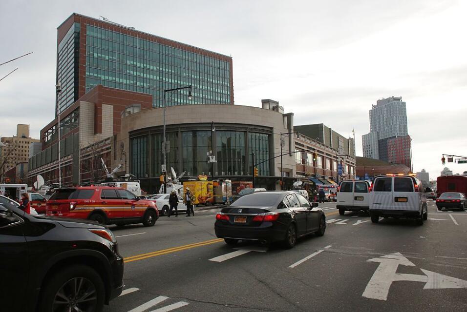 Así lucían las afueras del Atantic Terminal en Brooklyn en la mañana del...