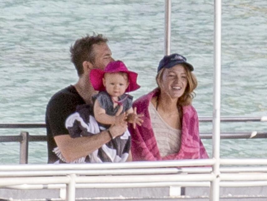Ryan y Blake en un encantador día de familia.