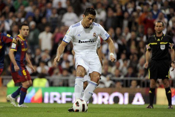 Cristiano cobró con precisión sobre el águlo de la portería del Barcelona.