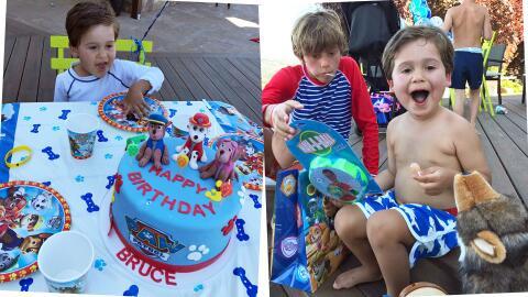 Bruce, hijo Satcha Pretto cumpleaños