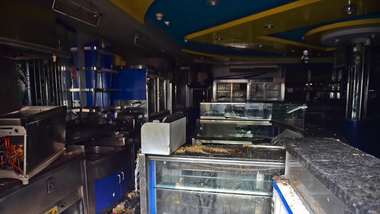 La panadería saqueada en el barrio popular de Caracas.