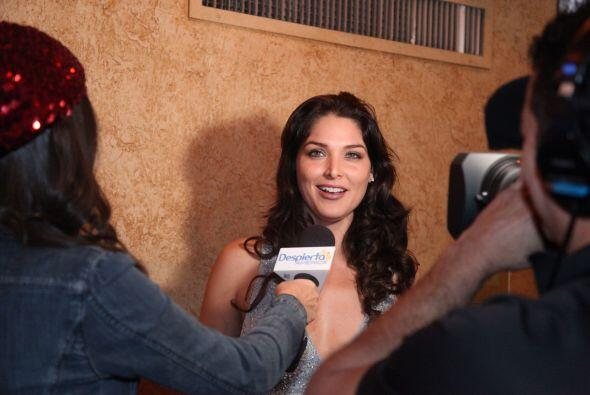 La actriz Blanca Soto llegó justo para empezar la grabación.