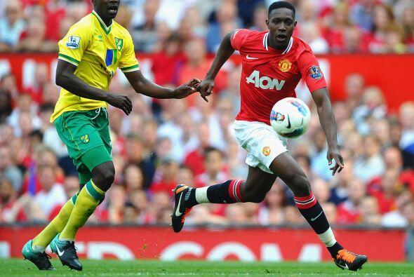 A pesar del poderío del United, el Norwich tuvo algunas posibilidades pa...