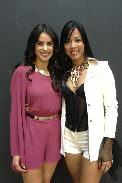 Shalimar Rivera también asistió a la audición para saludar a su amiga y...