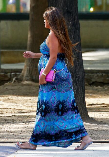 Las últimas fotos de Antonella embarazada.