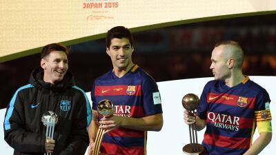 Messi Luis Suárez e Iniesta