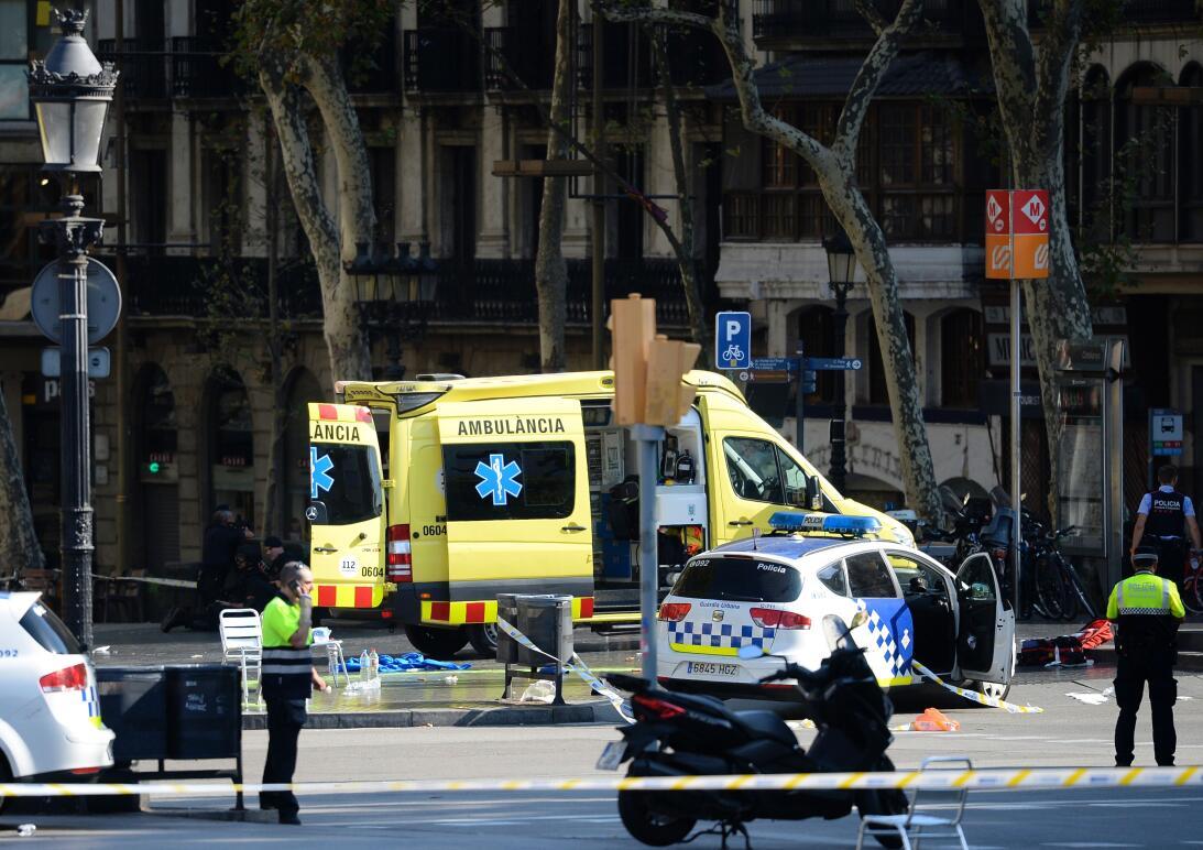 Atropello masivo en la Rambla de Barcelona.