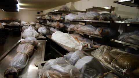 Foto de archivo de la morgue de Los Ángeles.