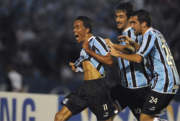 Gremio, el once gaúcho, dos veces campeón del torneo, llegó a octavos tr...