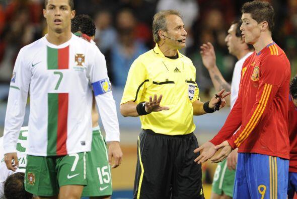 La frustración de Ronaldo empezó casi con el pitazo inicial del partido.