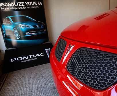 PontiacEl plan de reestructuración de General Motors también se llevó po...
