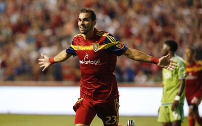 Sebastián Jaime celebra un gol Real Salt Lake