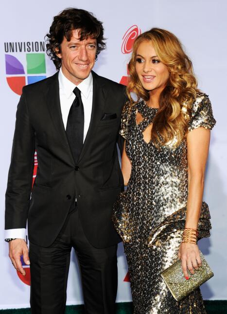 Singer Paulina Rubio (R) and Nicolas Vallejo-Najera arrive at the 12th a...