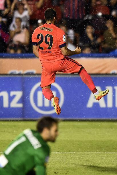 Ya con un hombre más en la cancha, Luis Enrique le dio descanso a Neymar...