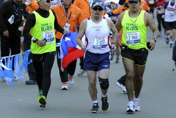 Para Peña completar el maratón de NY fue un desafío personal pues sabía...