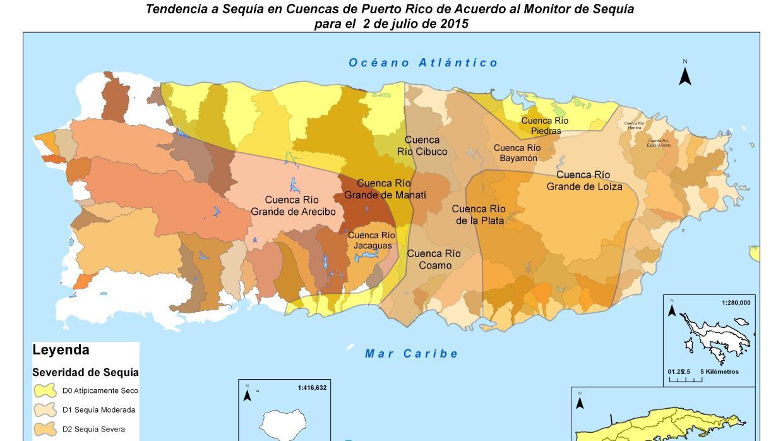 Mapa revisado de las cuencias de los ríos