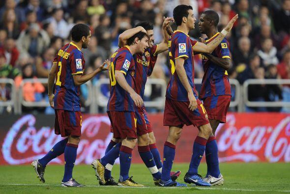El Barcelona derrotó al Zaragoza por 2 a 0.