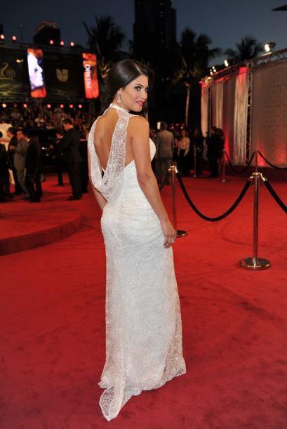 El vestido resaltaba las curvas de Chiquinquirá.