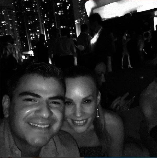 Jessica Coch y su novio