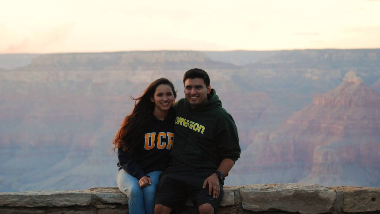 Denise Peraza y su esposo Augusto Peraza