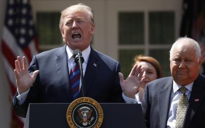 El presidente Donald Trump en un evento en la Casa Blanca este jueves.