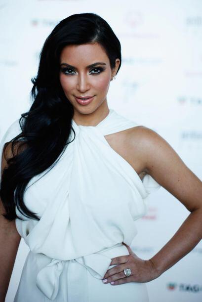 Kim Kardashian participó en el Amber Fashion Show como parte de l...