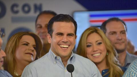 Ricardo Rosselló, gobernador electo de Puerto Rico, se dirige a sus cons...