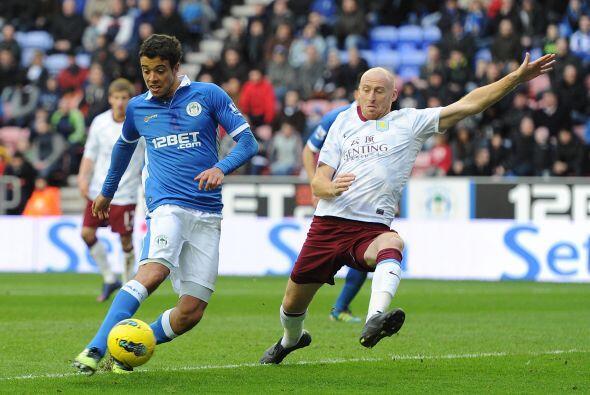 Wigan y Aston Villa terminaron a mano, 0 a 0.