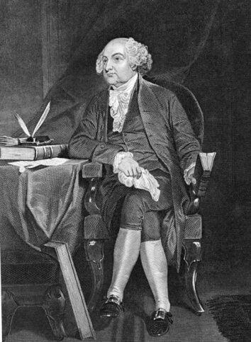 #2- John Adams. Mandato 4 de marzo de 1797 hasta 4 de marzo de 1801