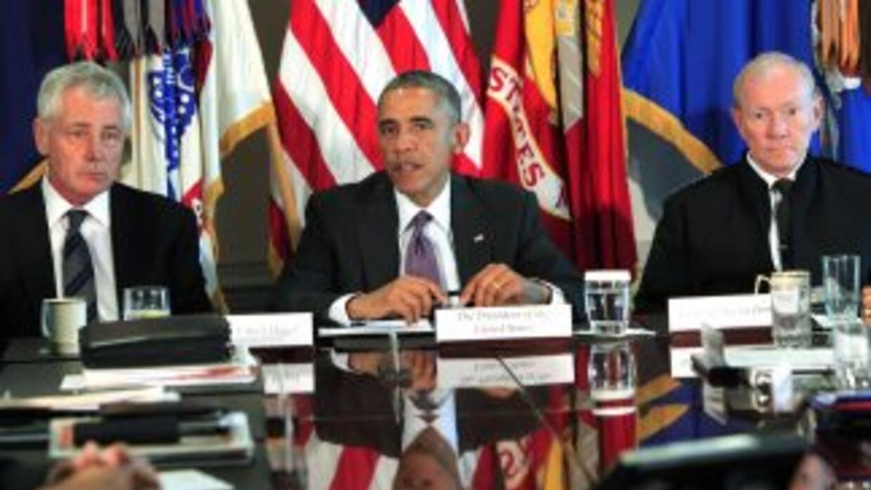 Obama se reunió con líderes del Departamento de Defensa para analizar la...
