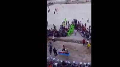 Impactante video del momento de la explosión en el estadio de fútbol al sur de Bagdad