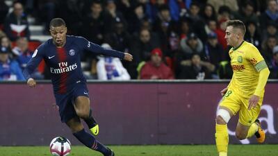 En fotos: El Paris Saint-Germain reanuda su actividad en la Ligue 1 y vence al Nantes
