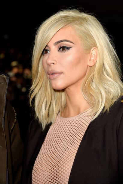 Kim se sentía soñada con su nuevo look.