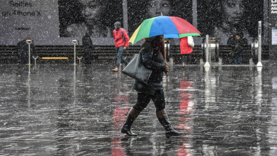 El Servicio Metereológico Nacional advirtió que las nevadas serán intens...
