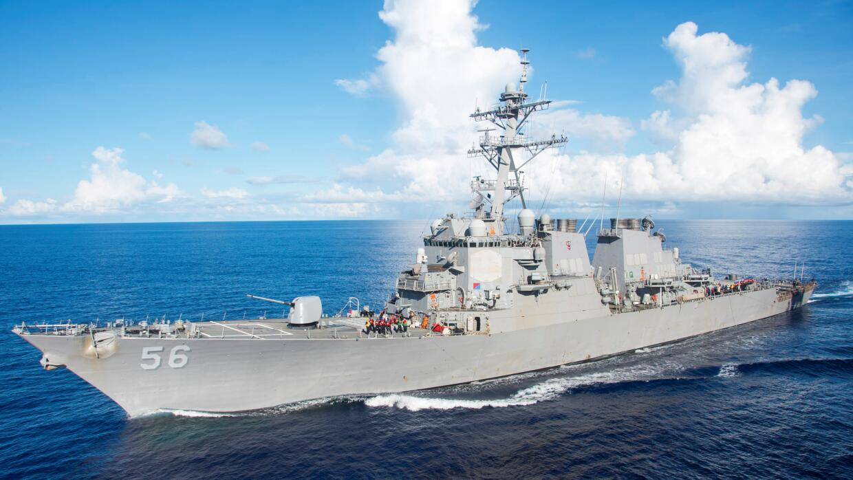 Imagen de archivo del destructor de misiles guiados USS John S. McCain,...