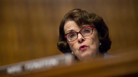 La senadora Feinstein en la comisión de investigación.