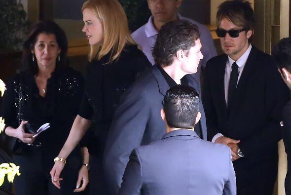 La actriz asistió junto a su pareja, el músico Keith Urban...