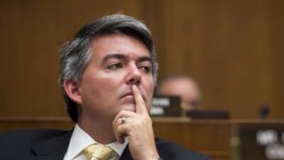 El congresista Cory Gardner (republicano de Colorado), uno de los objeti...