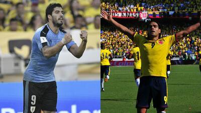 Radamel Falcao y Luis Suárez, los goleadores que cumplen una década con sus selecciones
