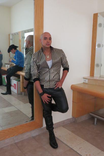 José Palacio backstage en la quinta semana.